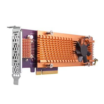 QNAP QM2-2P-384 Dual M 2 PCIe SSD Expansion Card, Supports up to Two M 2  2280/22110 Form Factor M 2 PCIe (Gen3 x4) SSDs, PCIe Gen3 x8 Host  Interface,