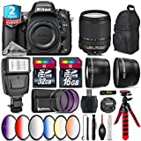 Holiday Saving Bundle for D610 DSLR Camera + 18-140mm VR Lens + 2.2x Telephoto Lens + 0.43x Wide Angle Lens + 6PC Graduated Color Filer Set + 2yr Extended Warranty + 32GB - International Version