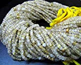 Natural Golden Rutilated Quartz Beads Rondelle faceted Strands 13inch Long , Size 3.5-4.5 mm,Genuine Semi Precious Stone Beads Wholesale