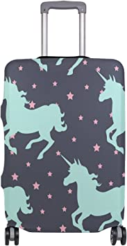 OREZI Luggage Protector Unicorn Travel Luggage Elastic Cover Suitcase Washable and Durable Anti-Scratch Stretchy Case Cover Fits 18-32 Inches