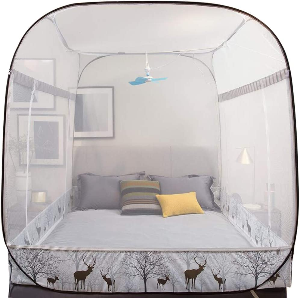 Foldable Encryption Princess Style Full Bottom Large Tent for Outdoor Or Indoor-a Queen Pop Up Mosquito Bug Net