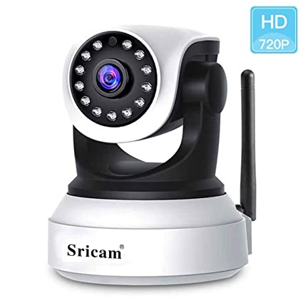Sricam HD 720P IP Cámara WIFI Vigilancia Interior WiFi P2P Ir Visión Nocturna Detección de Movimiento