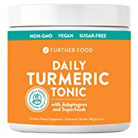 Daily Turmeric Tonic: Organic Turmeric + 7 Superfood & Adaptogen Antioxidant Golden...