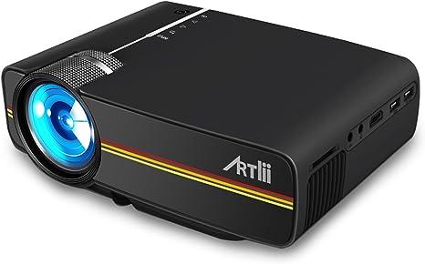 Artlii Mini Proyector, 1200 Lúmenes LED Portátil Casero HD 1080P ...