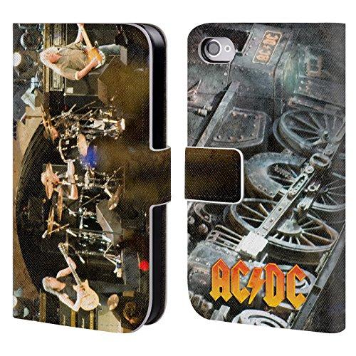 Officiel AC/DC ACDC Concert Photo De Groupe Étui Coque De Livre En Cuir Pour Apple iPhone 4 / 4S