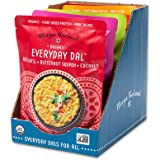Maya Kaimal Foods Organic Indian Everyday Dal Variety Pack, 10 oz (Pack of 6), Vegan, Microwavable, Ready to Eat, Fully Cooked