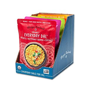 Maya Kaimal Foods Organic Indian Everyday Dal Variety Pack, 10 oz (Pack of 6), Vegan,Microwavable, Ready to Eat, Fully Cooked