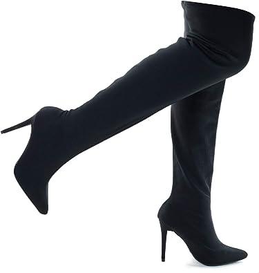 Stretchy Knee High Stiletto Heel Dress