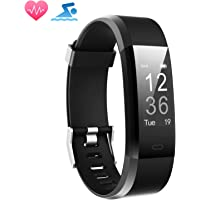Smart Fitness Band, MUZILI Activity Tracker with Heart Rate Monitor, Sleep Monitor Activity Band, Fitness Tracker with 14 Exercise Modes, USB Quick Charge for Android and iOS Smart Phones