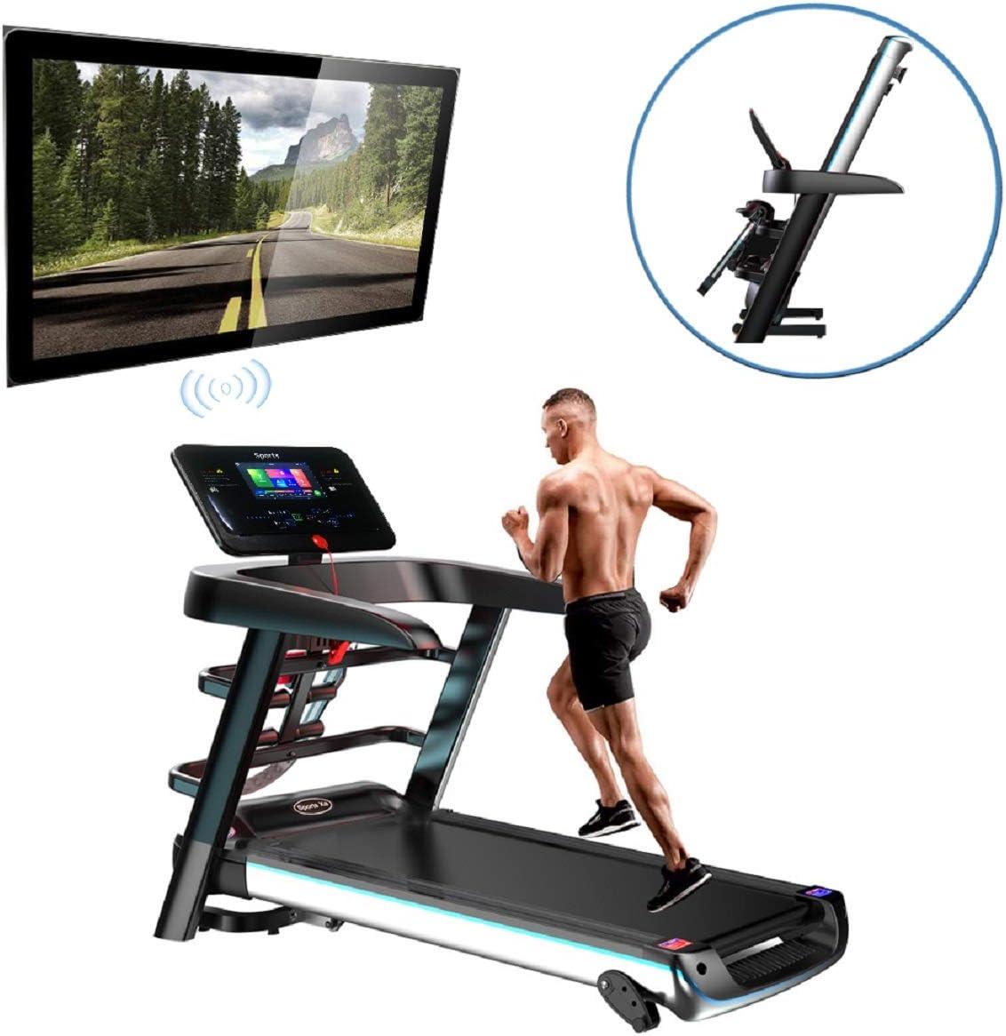 Fitness Club Super Running Machine, Cintas De Correr Plegables, P1-P12, Tres Modos De Cuenta Regresiva, AplicacióN Inteligente/Componentes Multifuncionales, Adecuado para El Hogar, Gimnasio