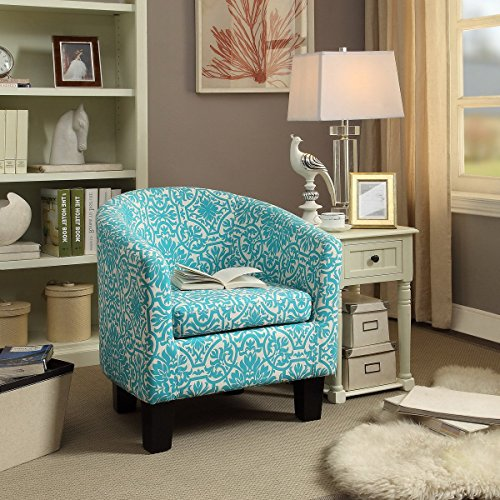 Millbury home C1B Florinio Club Chair, Mysterious Skyblue, Mysterious Skyblue