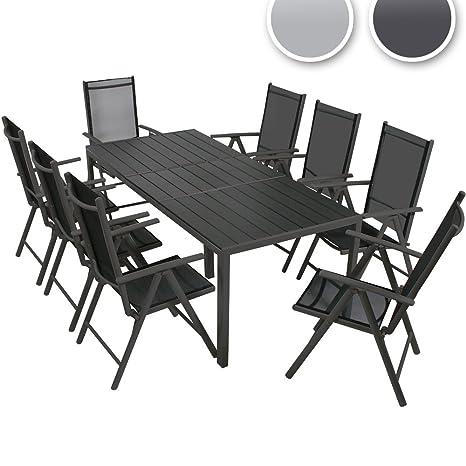 Miadomodo Set tavolo e sedie da giardino esterno in alluminio set da ...