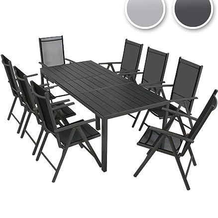 Miadomodo Set tavolo e sedie da giardino esterno in alluminio set ...