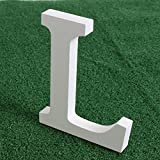 MORESAVE Vintage White Wooden Letter Free Standing Alphabet Word