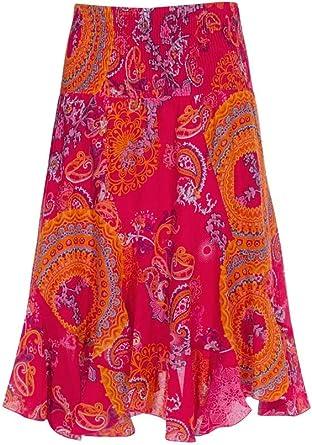 Coline Falda Color Puro algodón (Fucsia, Talla única): Amazon.es: Ropa y accesorios