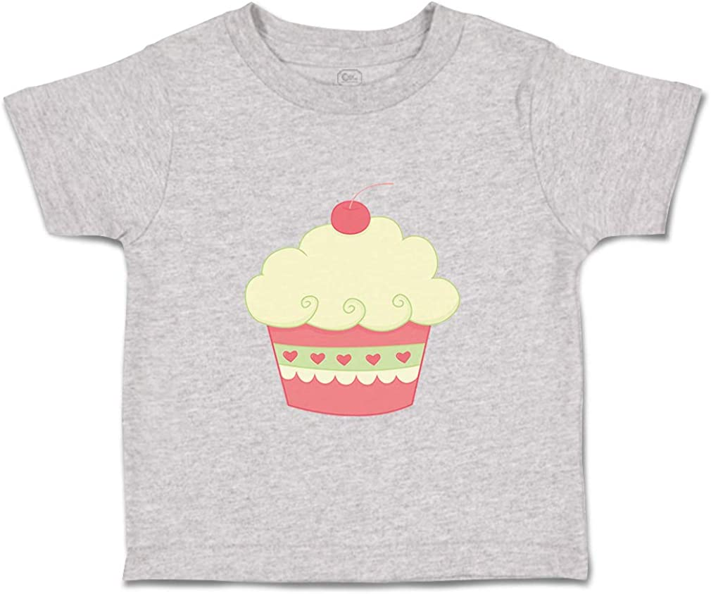 Custom Baby /& Toddler T-Shirt Cupcake Heart Print Cotton Boy Girl Clothes