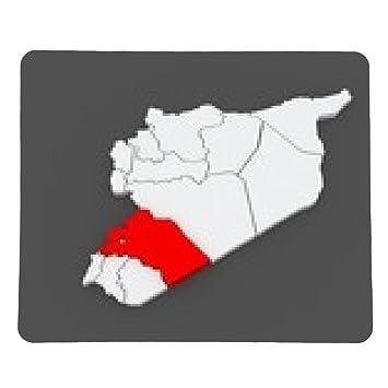 Mousepad Map of Reef Damascus. Syria. - rechteckig: Amazon.de ...