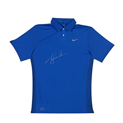 2f34159f TIGER WOODS Signed Nike Performance Graphic Royal Blue Polo LE of 25 UDA. at  Amazon's Sports Collectibles Store