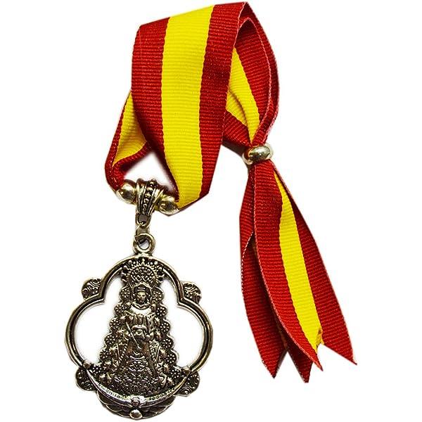 Cuelga Coche de la Virgen del Rocío. Tira de la Bandera de España. Medida Total: 25cm Aproximadamente.: Amazon.es: Equipaje