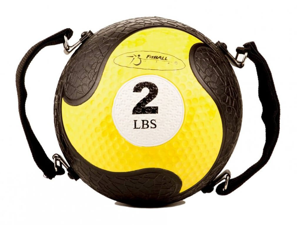 FitBALL MedBalls with Straps - 2 lb - Yellow