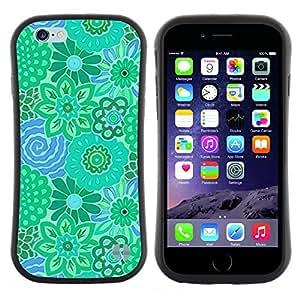 "Pulsar iFace Series Tpu silicona Carcasa Funda Case para Apple (4.7 inches!!!) iPhone 6 Plus / 6S Plus ( 5.5 ) , Teal verde azul Pretty"""