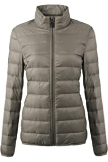 e38deccbc58 EQUICK Women s Down Jacket Packable Ultra Lightweight Outwear Puffer Coats  with Travel Bag