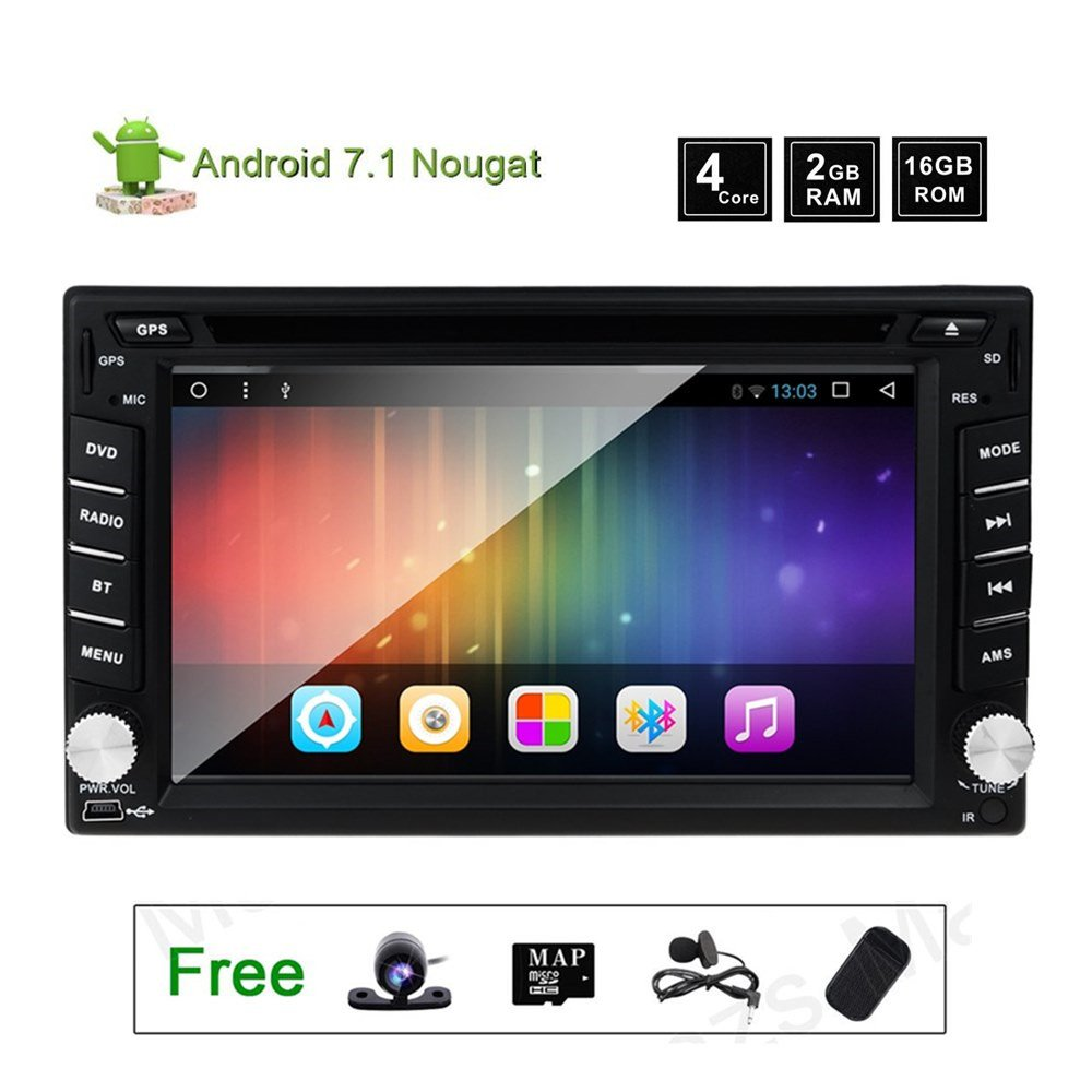 Amazon.com: GPS Radio DVD Player for Nissan Murano Versa 350z Frontier  Sentra Patrol Navara Qashqai 2 Din Android 7.1 Car Stereo Navigation with  WiFi and ...