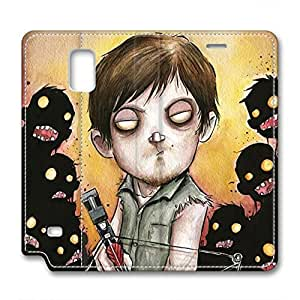 iCustomonline leather Case for Samsung galaxy Note 4, The Walking Dead Rick Ultimate Protection leather Case for Samsung galaxy Note 4