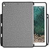ProCase iPad Pro 10.5 Case, Companion Back Cover for iPad Pro 10.5 Inch, Back Cover with Apple Pencil Holder, Compatible with Apple Smart Keyboard and Smart Cover -Gray
