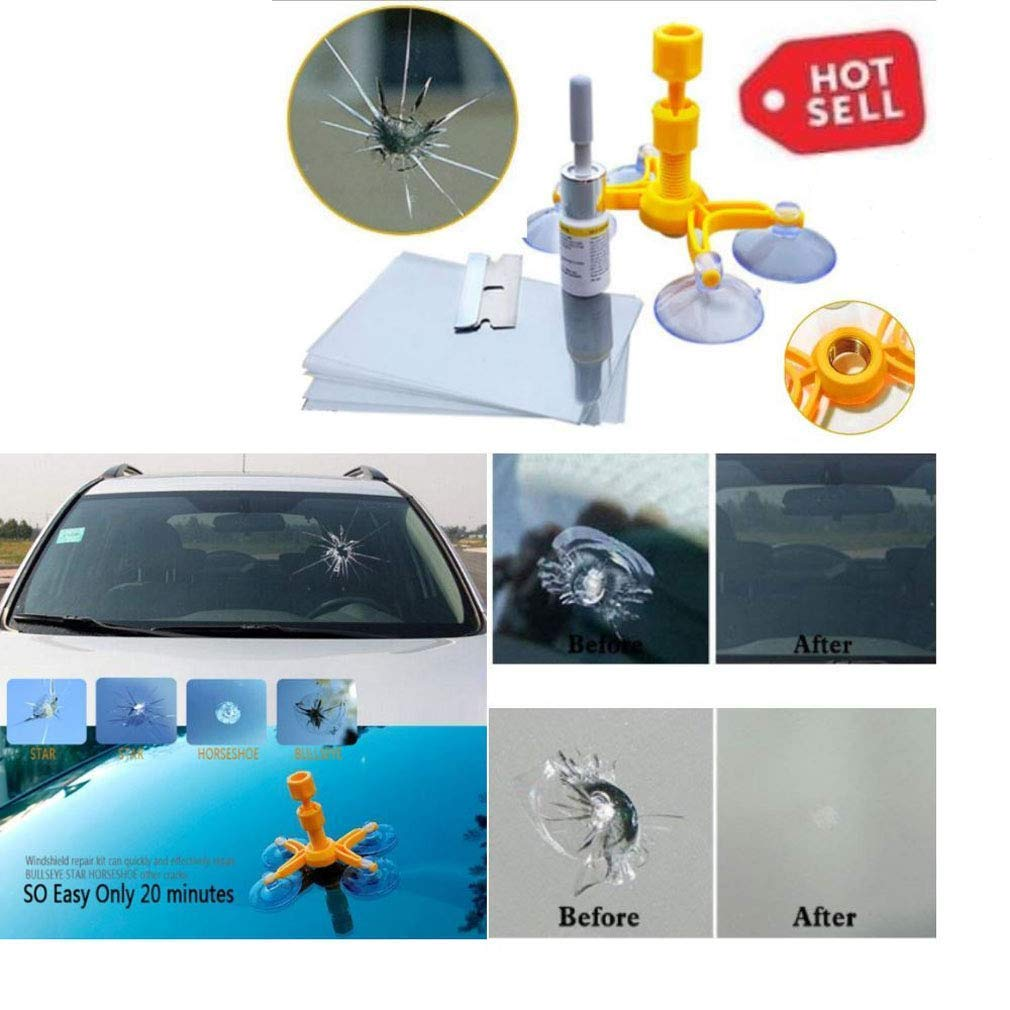 Windshield Glass Repair Kit >> Goupper 5 Pack Diy Windshield Repair Kit Glass Repair System