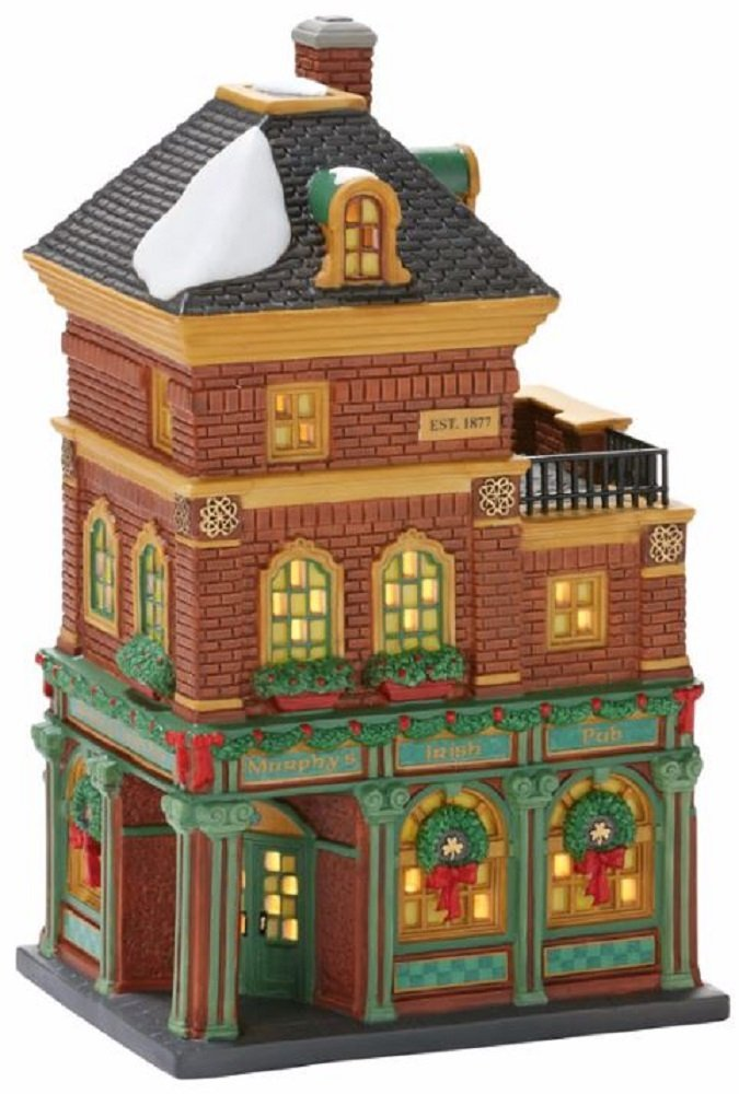 Department 56 Christmas in the City Village Murphy's Irish Pub Lit House by Department 56