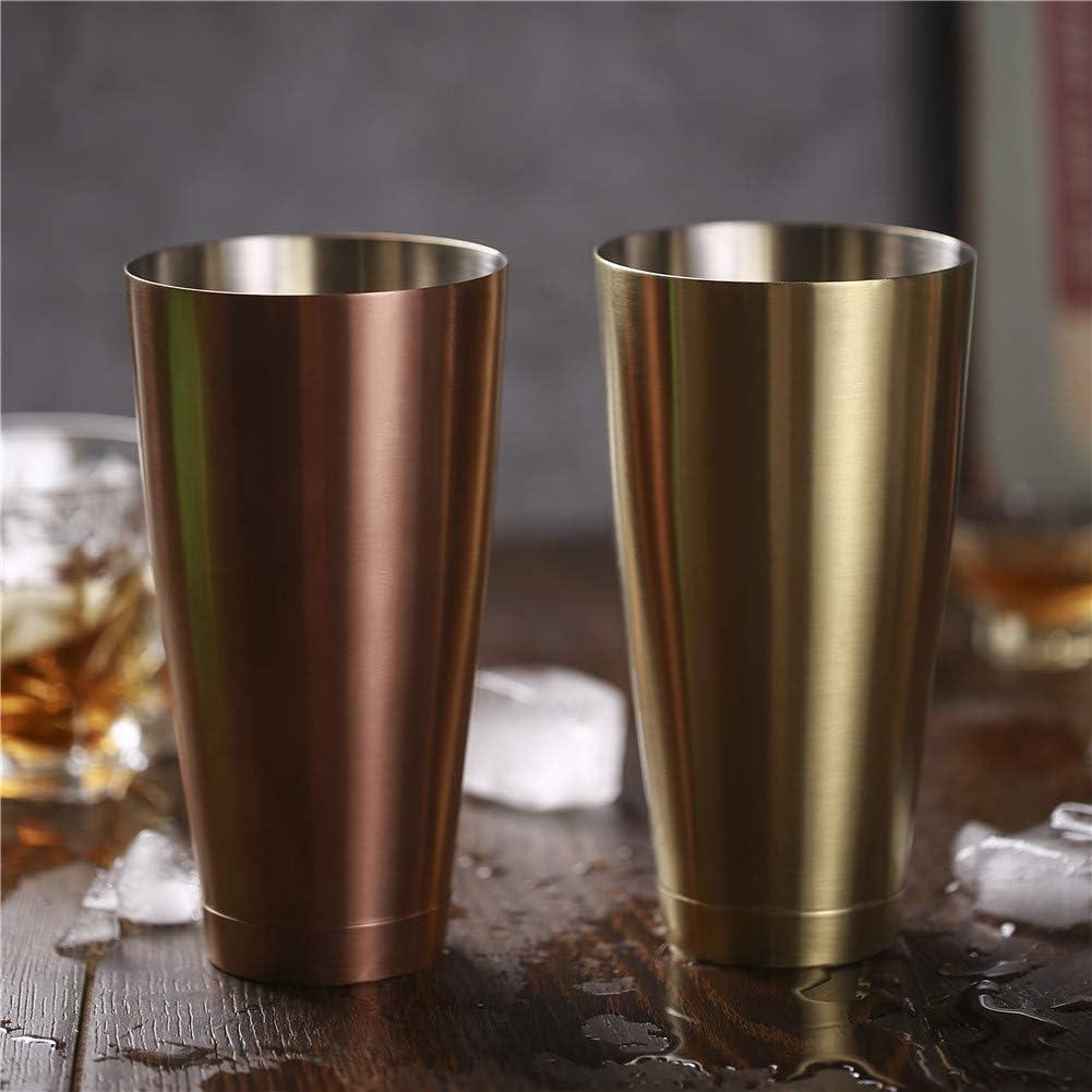 FABSELLER Lot de 2 shakers /à Cocktail Style am/éricain Boston en Acier Inoxydable pour Barman Noir