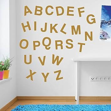 Wandaufkleber für Kinderzimmer, Motiv: Alphabet/Buchstaben ...