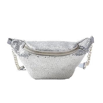 e26c766ce36c83 BESTOYARD Mode Taille Tasche Shiny Bauchtasche Taille Tasche Sporttasche  Cross Body Handtasche für Frauen Mädchen