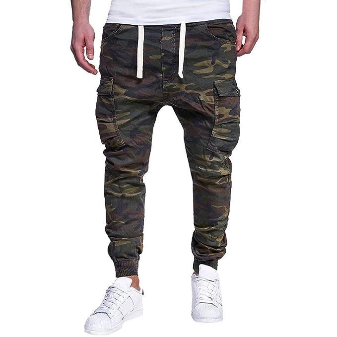 mejor sitio web ff74a c7c2e Pantalones De Camuflaje con Bolsillos Laterales Pantalones ...