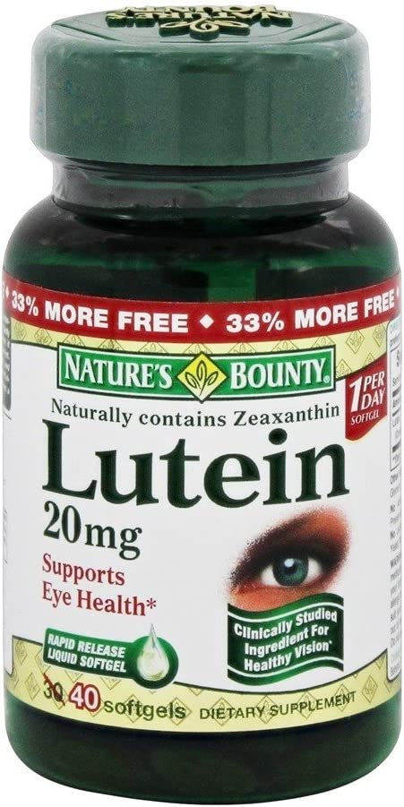 Nature's Bounty Lutein -- 20 mg - 40 Softgels