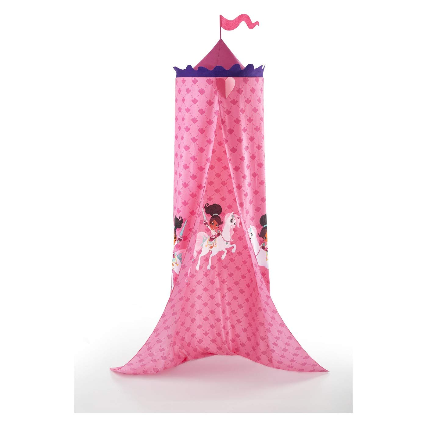 Nella The Princess Knight Twin Bed Canopy Pink