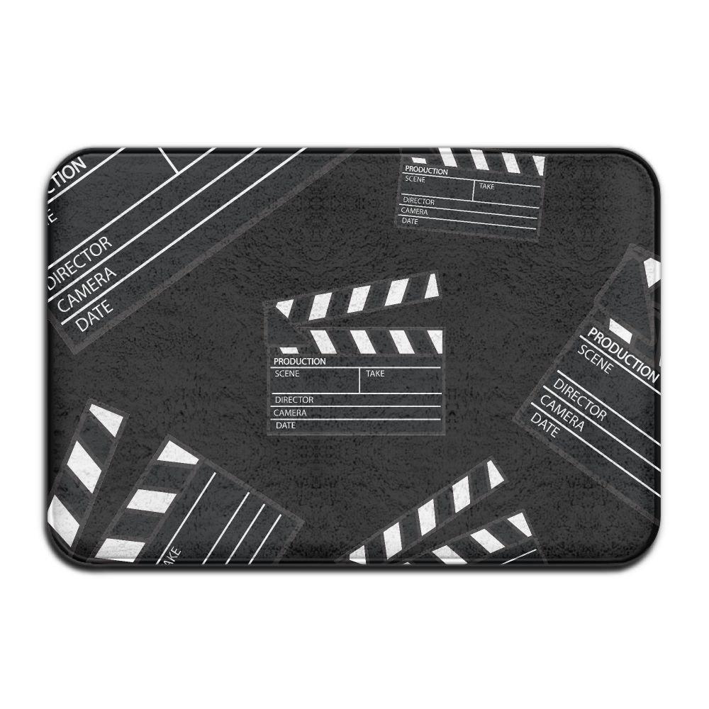 Movie Clapper Anti-Slip Floor Mat Rugs Doormat Living Room Bedroom Carpet 40 X 60cm