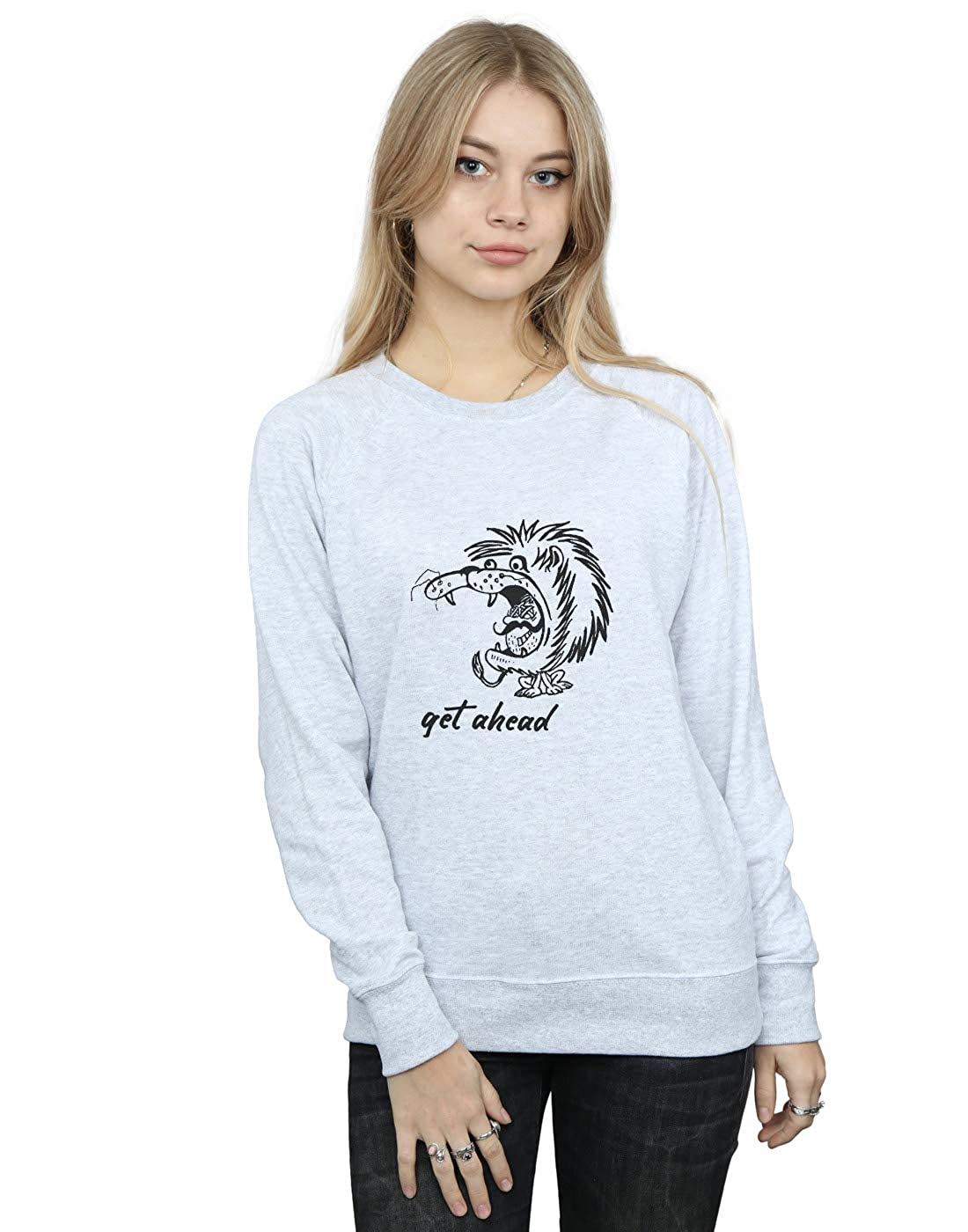63d894073fc987 best Absolute Cult Drewbacca Damen Get Ahead Sweatshirt Sport Grau PUOd2KjA