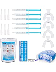 KAV PLUS 6 Gel Teeth Whitening Kit PRO Home Kit LED Lazer Light, 4x Mouth Trays + Free Teeth Shade - Professional Teeth Whitening KIT