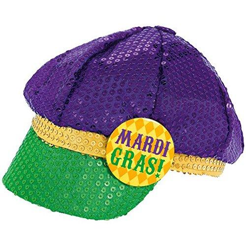 Mardi Gras Fashion Sequined Floppy Party Hat Costume Headwear, Fabric, 4