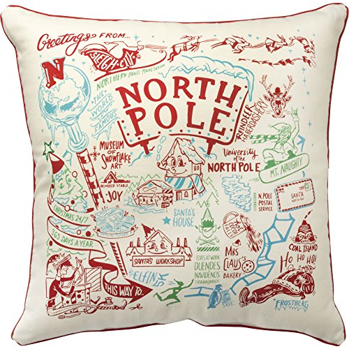 - Primitives by Kathy Decorative Super North Pole Holiday Throw Pillow