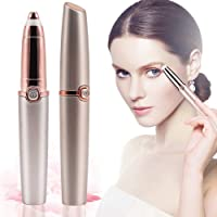 Eyebrow Trimmer Hair Removal For Women, Aptech Painless Electric Eyebrow Trimmer Epilator, Ladies Eyebrow Razor Shaver For Eyebrow Hair Remover With LED Light (Battery Operated)