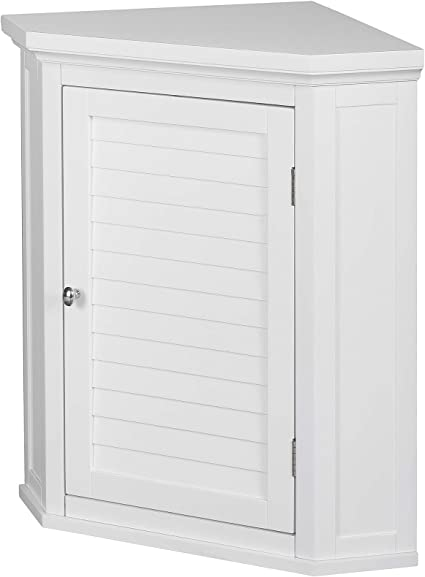Versanora Wooden Cupboard Wall Mounted Bathroom Corner Storage Unit Mdf White 57 15 X 38 1 X 60 96 Cm Amazon Co Uk Kitchen Home