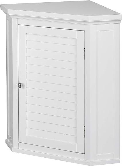 Versanora Wooden Cupboard Wall Mounted Bathroom Corner Storage Unit Mdf White 57 15 X 38 1 X 60 96 Cm Amazon Co Uk Kitchen Home