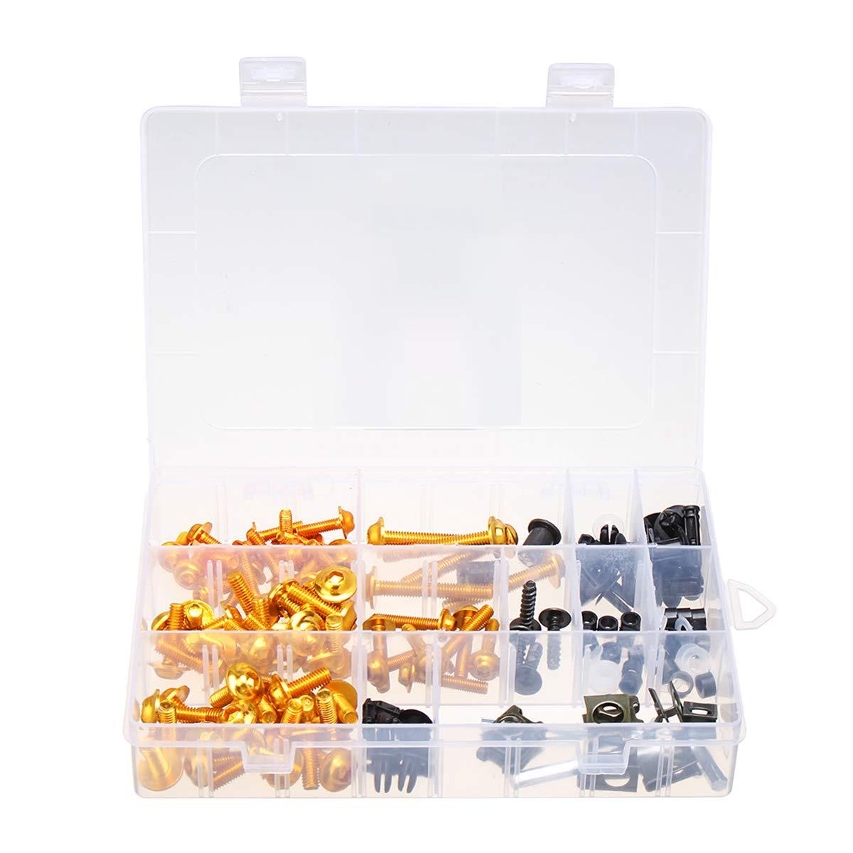 Viviance /Blakc//Gold Vollverkleidungsschraubens/ätze 134 St/ücke F/ür Honda Cbr600Rr Cbr900Rr Cbr1000Rr Cbr1100Xx Gold