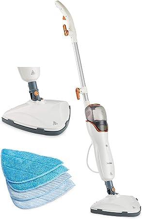 VonHaus Limpiadora Mopa Escoba de Limpieza a Vapor 1200 W - Limpia suelos y alfombras, tanque de 550mL, mopas incluidas: Amazon.es: Hogar