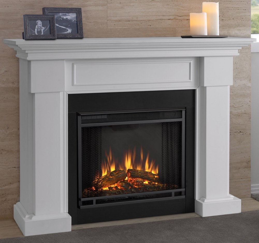 amazon com real fame hillcrest gel fireplace white home u0026 kitchen