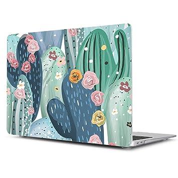 TwoL Funda MacBook Pro 15 A1398, Carcasa Rígida de Plástico para MacBook Pro Retina 15 15,4 Pulgadas A1398 Cactus Creativo