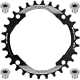 FOMTOR 30T 32T 34T 36T 38T Chainring 104 BCD Narrow Wide Chainring with Four Chainring Bolts for Road Bike, Mountain…